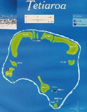 Click here for a larger map of Tetiaroa (map courtesy of Tahiti Tourisme)