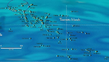Click here for a larger map of the Tuamotus (map courtesy of Tahiti Tourisme)